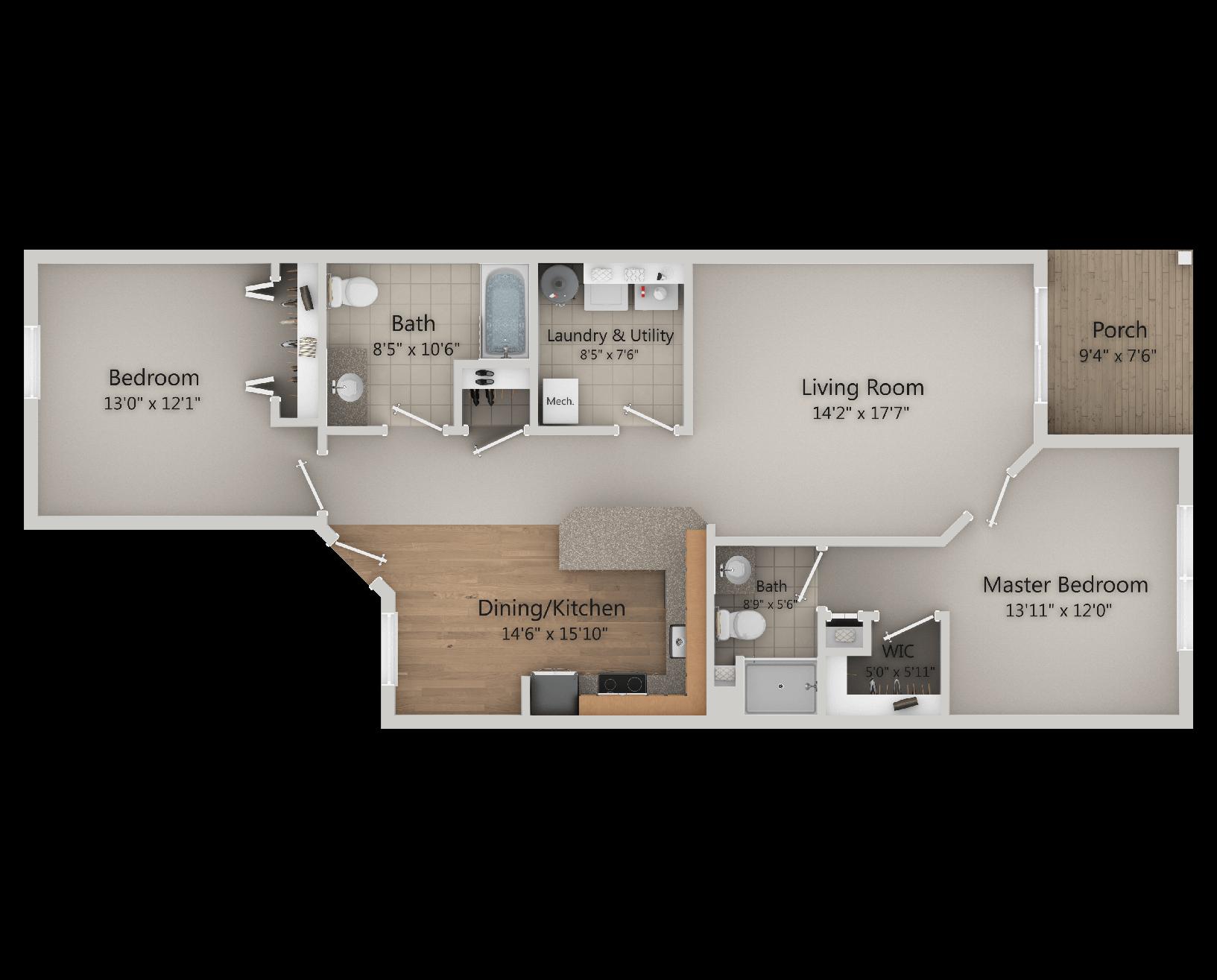 Hudson Preserve - Algonquin 2 Bed, 2 Bath