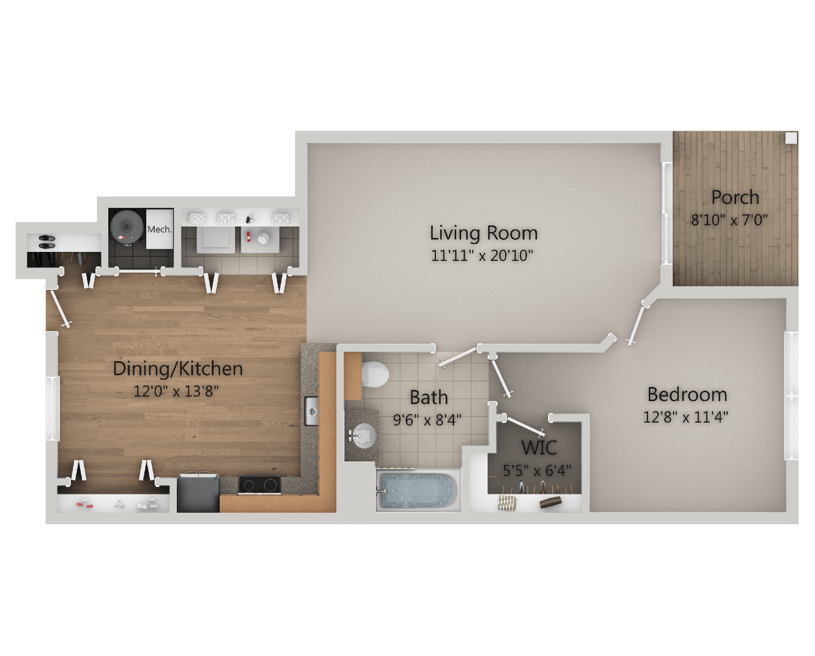 Hudson Preserve - Mohawk 1 Bed, 1 Bath